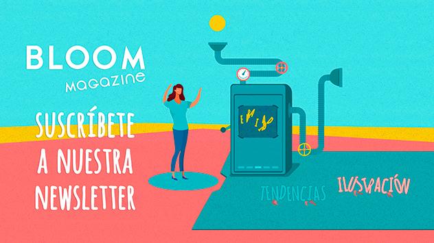 Proyecto Bloom Magazine apúntate a nuestra newsletter realizado en el estudio de animación Novi Animation