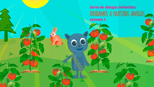 Proyecto corto dibujos animados Ayudamos a nuestros amigos 3 realizado en el estudio de animación Novi Animation